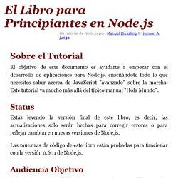 El Libro para Principiantes en Node.js» Un tutorial completo de node.js