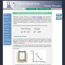 Primer Principio de la Termodinámica. Isoterma