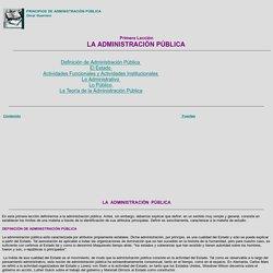 Principios de Administración Pública, Leccion1