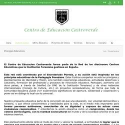 Principios Educativos -Centro de Educación Castroverde-