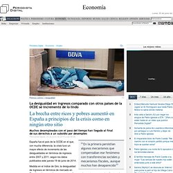 La brecha entre ricos y pobres aumentó en España a principios de la crisis como en ningún otro sitio