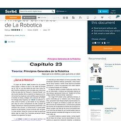Principios Generales de La Robotica