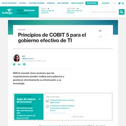 Principios de COBIT 5 para el gobierno efectivo de TI