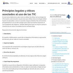 Principios legales y éticos asociados al uso de las TIC – Área de Tecnología Educativa