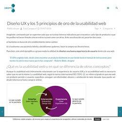 Diseño UX y los 5 principios de oro de la usabilidad web - CONCEPTO 05