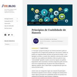Princípios de Usabilidade de Hansen //ux.blog