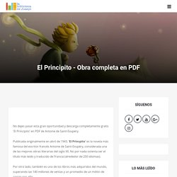 El Principito - Obra completa en PDF - La Biblioteca de Juanjo