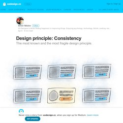 Design principle: Consistency – uxdesign.cc