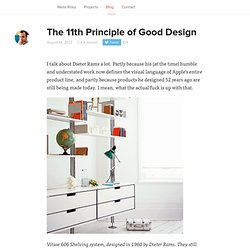 The 11th Principle of Good Design