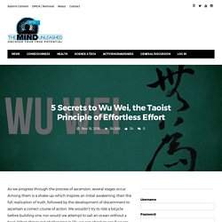 5 Secrets to Wu Wei, the Taoist Principle of Effortless Effort · The Mind Unleashed