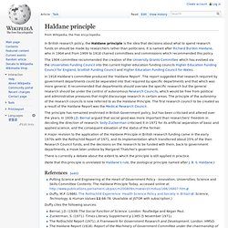 Haldane principle