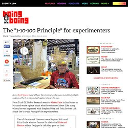 "The ""1-10-100 Principle"" for experimenters"