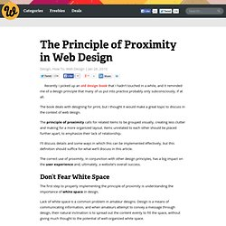 The Principle of Proximity in Web Design