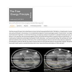 The Free Energy Principle Workshop- Program