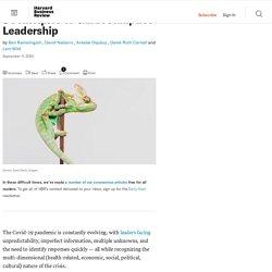 5 Principles to Guide Adaptive Leadership