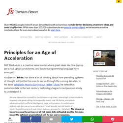 Principles for an Age of Acceleration