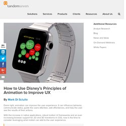 How to Use Disney's Principles of Animation to Improve UX