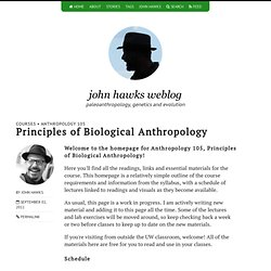 Principles of Biological Anthropology