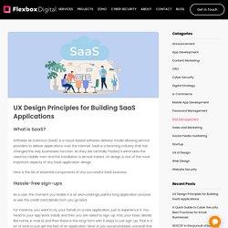 UX Design Principles for Building SaaS Applications