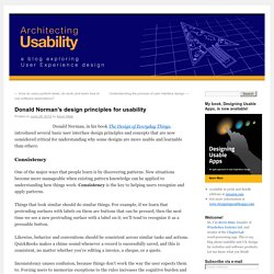 Donald Norman's design principles for usability