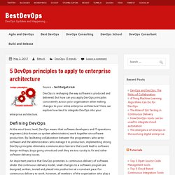 5 DevOps principles to apply to enterprise architecture – BestDevOps