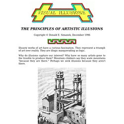 The Principles of Artistic Illusions