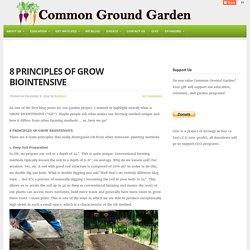 8 Principles of GROW BIOINTENSIVE - Common Ground Garden | Common Ground Garden