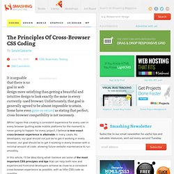 The Principles Of Cross-Browser CSS Coding