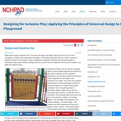 Designing for Inclusive Play: Applying the Principles of Universal Design to the Playground : NCHPAD - Building Healthy Inclusive Communities
