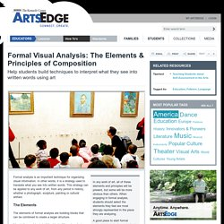ARTSEDGE: Formal Visual Analysis: The Elements & Principles of Composition
