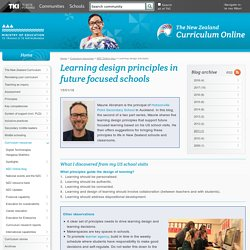 Learning design principles / NZC Online blog / Curriculum resources