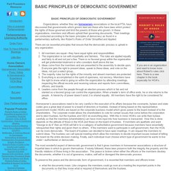 BASIC PRINCIPLES OF DEMOCRATIC GOVERNMENT