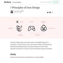 7 Principles of Icon Design - Helena Zhang - Medium