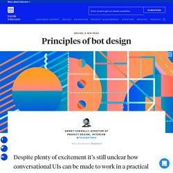 Principles of bot design - Inside Intercom