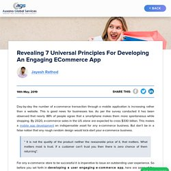 Revealing 7 Universal Principles For Developing an Engaging eCommerce App -