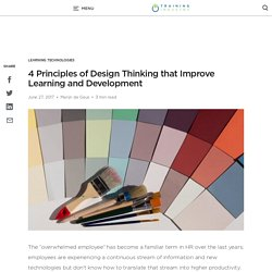 4 Principles of Design Thinking that Improve Learning and Development