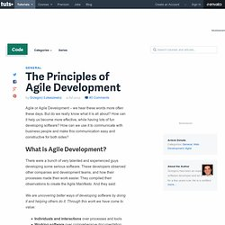 The Principles of Agile Development