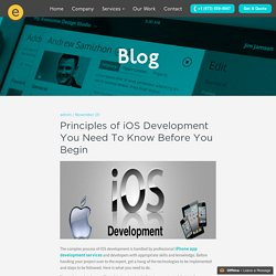 Principles of iOS Development You Need To Know Before You Begin
