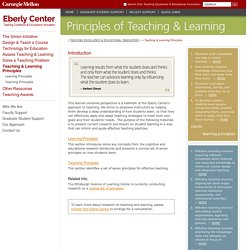 Teaching & Learning Principles