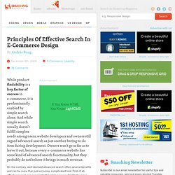 Principles Of Effective Search In E-Commerce Design - Smashing M