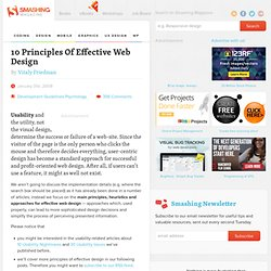 10 Principles Of Effective Web Design