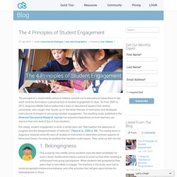 The 4 Principles of Student Engagement ExitTicket Systems Level Student Response Solution