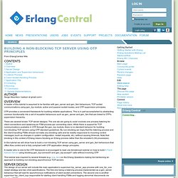Building a Non-blocking TCP server using OTP principles - ErlangCentral Wiki