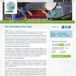The 10 principles of Fair Trade « WFTO Europe