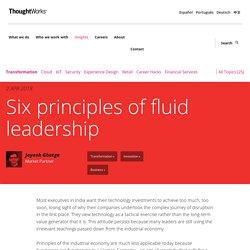 Six principles of fluid leadership