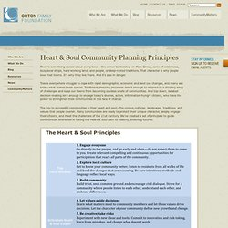 Heart & Soul Community Planning Principles | Orton Family Foundation