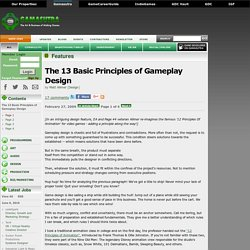 The 13 Basic Principles of Gameplay Design