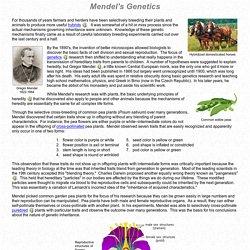 Basic Principles of Genetics: Mendel's Genetics