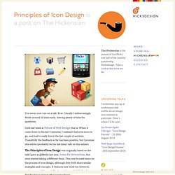 Principles of Icon Design