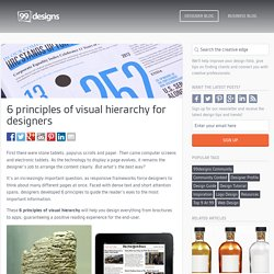 6 principles of visual hierarchy for designers